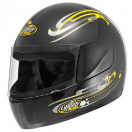 Capacete Moto Preto Liberty For Kids Protork