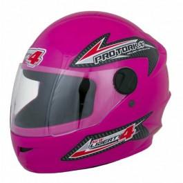 Capacete Moto Rosa New Liberty Four Protork