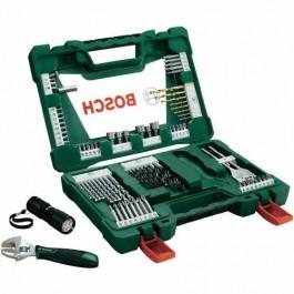 Kit Bosch De Brocas E Bits Com Laterna V-line 83 Peças