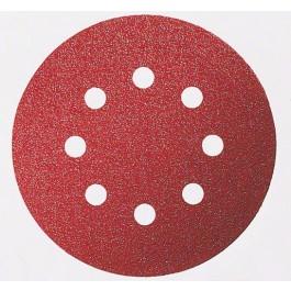 Disco Lixa de Velcro 125mm 8 furos Grão 120 Bosch 3