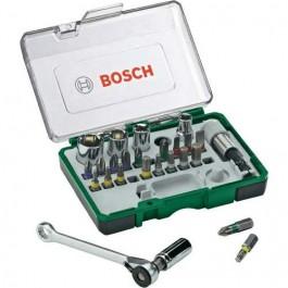 Kit Bosch Bits E Soquete Com Chave Catraca 27 Peças