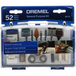 Kit Acessórios 52 Peças Para Micro Retíficas 687-01 Dremel 3