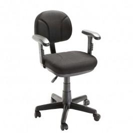 Cadeira Secretária Com Braço Preta Gás Plaxmetal