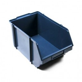 Gaveta Plástica para Estante 7 Azul 22x34x17cm com 5 pc