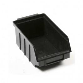 Gaveta Plástica para Estante 3 Preto 10x17x7cm com 25 pc