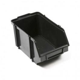 Gaveta Plástica para Estante 5 Preto 14x24x12cm com 9 pc