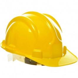 Capacete De Segurança Com Carneira Amarela Plastcor Inmetro