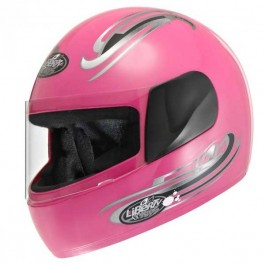 Capacete Moto Rosa Liberty For Kids Protork