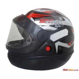 Capacete Moto Preto Fosco San Marino Taurus