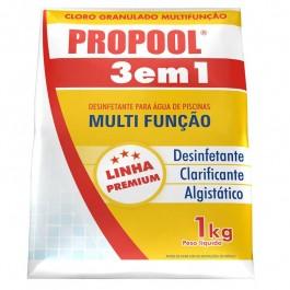 Cloro Para Piscina Estabilizado Propool 3 Em 1 1 Kg