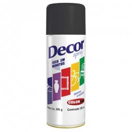 Tinta Spray Preto Fosco Colorgin