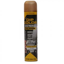 Envelopamento Liquido Tinta Spray DIP COLOR 400ML Verniz Metalizado Ouro