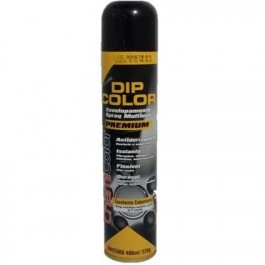 Envelopamento Liquido Tinta Spray DIP COLOR 400ML Preto Brilhante