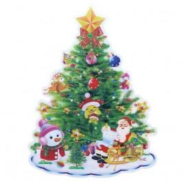 Enfeite de PVC 3D Árvore de Natal 58x48cm