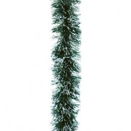 Festão PVC Verde Nevado 9cm