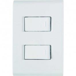 Interruptor 2 Teclas Simples 2 X 4 Com Placa Liz Tramontina
