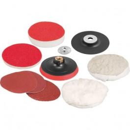 Jogo de Disco para Lixar e Polir 125mm com Suporte Vonder