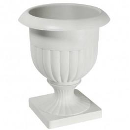 Kit 6 Vasos Plástico Taca Alta Betunia Cinza/gelo