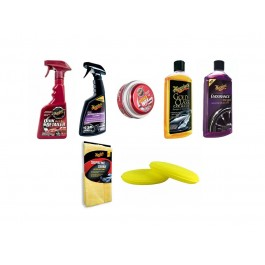 Kit Meguiars Wash and Wax Classic Limpeza Interior Exterior e Rodas