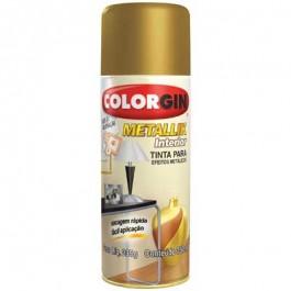 Tinta Spray Dourado Metálico Colorgin