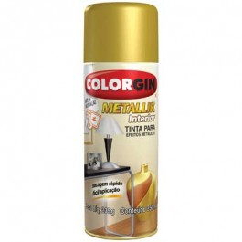Tinta Spray Metálica Metallik Ouro Colorgin