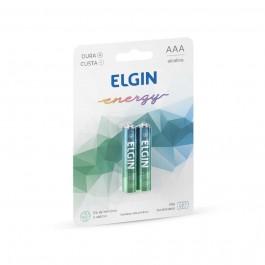 Pilha Alcalina Palito AAA Elgin com 2 Unidades 1