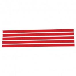Porta Etiqueta Amapá Gôndola Vermelha Com 5 Unidades