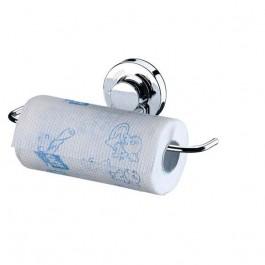 Porta Rolo Papel Toalha Suporte Multiuso Em Aço C/ Ventosa
