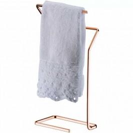 Porta Toalhas De Rosto/ Mão De Bancada Toalheiro Aço Cobreado