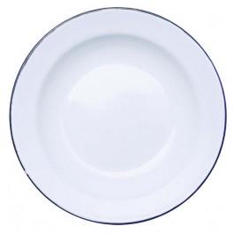 Prato Esmaltado 22cm Branco com 12 Peças