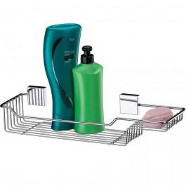 Suporte Porta Shampoo Sabonete Prateleira Banheiro em Aço Inox