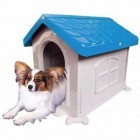 Casinha Cachorro Plástica Desmontável Azul N.2