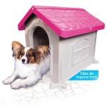 Casinha Cachorro Plástica Desmontável Rosa N.2
