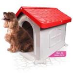 Casinha Cachorro Plástica Desmontável Vermelha N.3