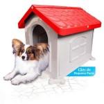 Casinha Cachorro Plástica Desmontável Vermelha N.2