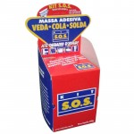Cola Massa Cinza Epoxi Kit Sos 250 G