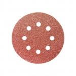 Disco de Lixa com Velcro 125mm 8 Furos G220 com 5 Unidades MTX