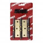 Dobradiça para Porta com Anel Colonial 3.1/2 até 27kg Isero c/ 3 Peças