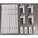 Kit Acessórios Para Grade de Berço com Gatilho Branco