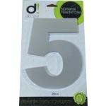 Número Residencial Algarismo Alumínio Espelhado com PVC 20 Cm No 5 Decore