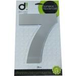 Número Residencial Algarismo Alumínio Espelhado com PVC 20 Cm No 7 Decore