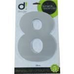 Número Residencial Algarismo Alumínio Espelhado com PVC 20 Cm No 8 Decore
