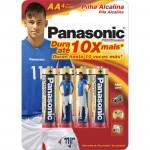 Pilha Panasonic Alcalina Lr6-4 Pequena Com 4 Unidades