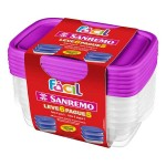 Pote Plástico Fácil 785ml com 6 peças Sanremo